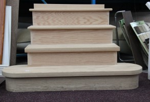 Oak Steps Bull Nose Custom Pie Shapes