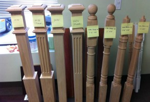 Newel Posts Oak and Maple