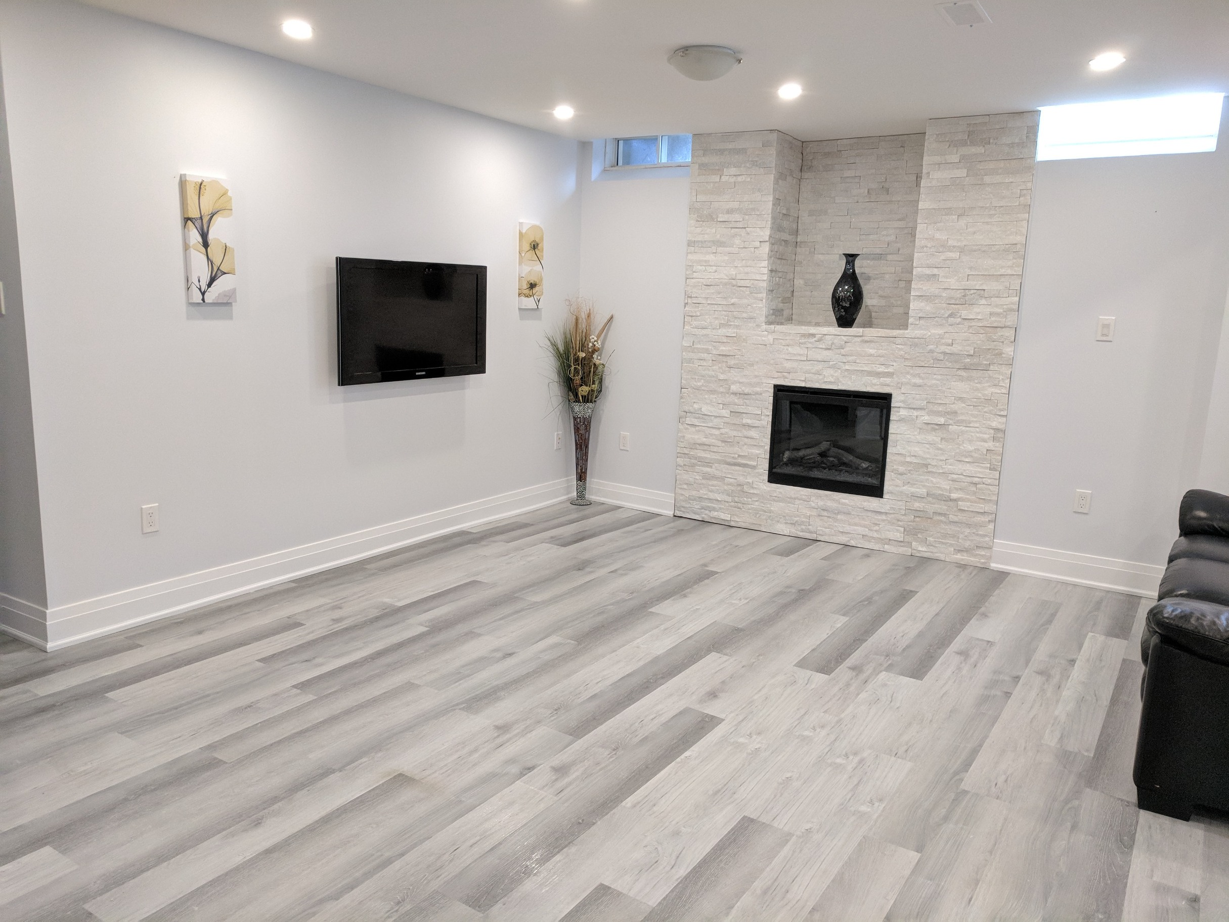 Light Grey Vinyl Plank Flooring