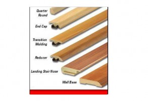 Unfinished Wood & Laminate Transition Mouldings  $19.99/8'