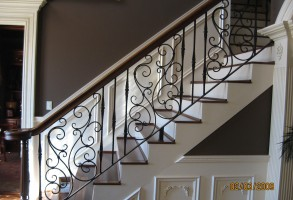 Scroll Design Stairs