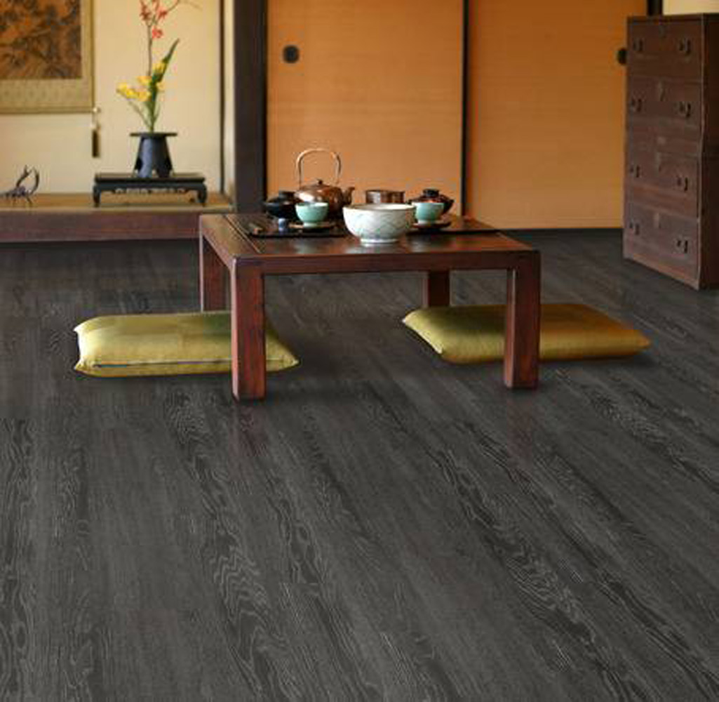 Charcoal Grey 4mm 5mm 6mm Vinyl Plank Flooring